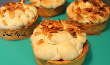 Tartelettes aux pommes meringuées