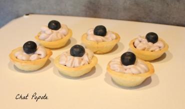 Mini tartelettes aux myrtilles