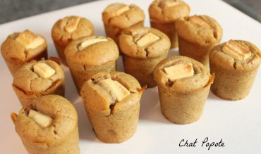Mini muffins épicés coeur chocolat blanc