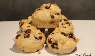 Muffins au son d'avoine et pépites de chocolat