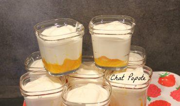 Fromage blanc façon Yopa sur lit de mangue