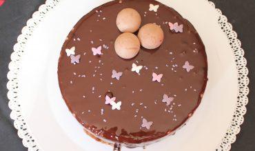 """""""L'Envol"""" de Pierre Marcolini (entremets chocolat noir insert crème brûlée à la vanille)"""