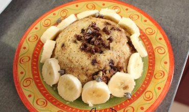 Bowl cake à la banane et aux pépites de chocolat