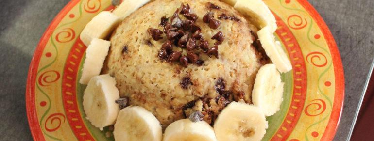 Bowl Cake A La Banane Et Aux Pepites De Chocolat
