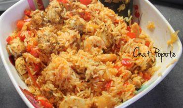 Jambalaya de poulet et crevettes (au Thermomix)