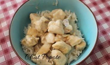 Blanquette de poulet aux petits champignons (cookeo)