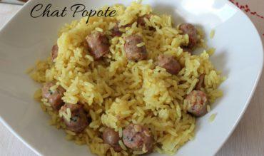 Riz au curry et chipolatas (cookeo)