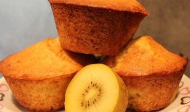 Muffins aux kiwis jaunes