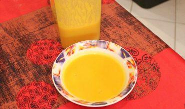 Velouté de potiron/carottes aux épices indiennes