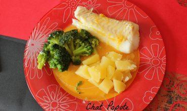 Cabillaud au beurre d'agrumes, brocolis et pomme de terre