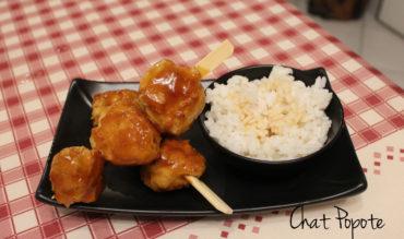 Yakitori au poulet sauce Teriyaki