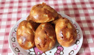 Moel'Oeufs aux pommes et pépites de caramel au beurre salé