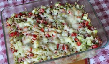 Gratin d'Ebly aux légumes et jambon