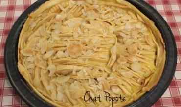 Tarte aux pommes et crème pâtissière