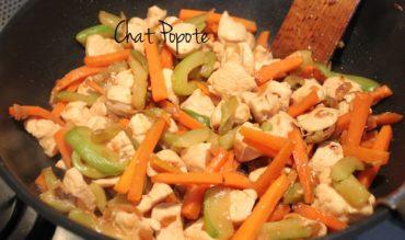 Sauté de poulet asiatique aux petits légumes