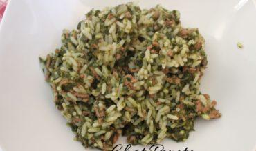 One pot riz, boeuf et épinards (cookeo)